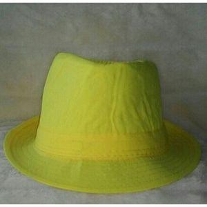 {Few Wrinkles} Yellow Fedora Hat
